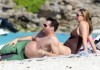 jill goodacre with her husband Harry Connick Jr and their three daughters Georgia Sarah and Charlotte at the beach of St Barts on March 13th 2009 1