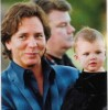 Eddie Vedder and his daughter Olivia Vedder when she was only one year old