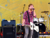 David Cook performing on stage during Good Morning America at Rumsey Playfield Central Park on August 7th, 2009 in New York City