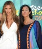 Kim Kardashian and Kourtney Kardashian picture at the 2009 Teen Choice Awards held at the Gibson Amphitheatre on August 9th, 2009 in Universal City, California