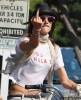 Alessandra Ambrosio photo riding a bike in Venice California on July 18th 2009 2