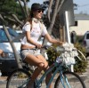 Alessandra Ambrosio photo riding a bike in Venice California on July 18th 2009 3