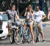 Alessandra Ambrosio photo riding a bike in Venice California on July 18th 2009 1