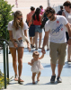 Alessandra Ambrosio spotted with her fiance Jaime Mazur and daughter walking towards the beach in Venice California on July 18th 2009 2