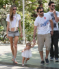 Alessandra Ambrosio spotted with her fiance Jaime Mazur and daughter walking towards the beach in Venice California on July 18th 2009 3
