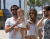 Alessandra Ambrosio spotted with her fiance Jaime Mazur and daughter walking towards the beach in Venice California on July 18th 2009 1