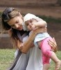 Alessandra Ambrosio with her daughter Anja at a green park in Santa Monica on July 10th 2009 3