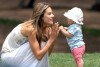 Alessandra Ambrosio with her daughter Anja at a green park in Santa Monica on July 10th 2009 2