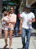 Alessandra Ambrosio with her fiance Jamie and her daughter Anja walking at Malibu beach on July 16th 2009 1