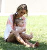 Alessandra Ambrosio picture playing with her daughter Anja at Malibu beach on July 16th 2009 3
