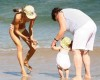 Alessandra Ambrosio picture playing with her daughter Anja at Malibu beach on July 16th 2009 8