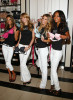 Alessandra Ambrosio with Lindsay Ellingson Marisa Miller and Emanuela de Paula at Victoria's Secret 10th anniversary celebration of The Body By Victoria Collection at Herald Square on August 11th, 2009 in New York City