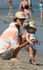 Alessandra Ambrosio picture with her baby daughter Anja Louise at the Malibu beach on July 16th 2009 2