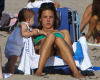 Alessandra Ambrosio picture with her daughter Anja heading to the beach in Malibu on July 19th 2009 3