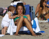 Alessandra Ambrosio picture with her daughter Anja heading to the beach in Malibu on July 19th 2009 5