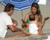 Alessandra Ambrosio picture with her daughter Anja heading to the beach in Malibu on July 19th 2009 7