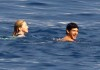 Madonna and Jesus Luz picture while swimming together in the ocean on August 17th 2009 2