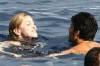 Madonna and Jesus Luz picture while swimming together in the ocean on August 17th 2009 1
