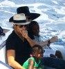 pictures of Jesus Luz with Madonna and her children Mercy and David as they had a lovely cruise on a boat in Portofino Italy on Monday August 17th 2009 5