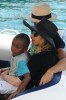 pictures of Jesus Luz with Madonna and her children Mercy and David as they had a lovely cruise on a boat in Portofino Italy on Monday August 17th 2009 11