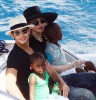 pictures of Jesus Luz with Madonna and her children Mercy and David as they had a lovely cruise on a boat in Portofino Italy on Monday August 17th 2009 6