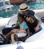 pictures of Jesus Luz with Madonna and her children Mercy and David as they had a lovely cruise on a boat in Portofino Italy on Monday August 17th 2009 3