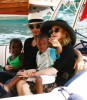 pictures of Jesus Luz with Madonna and her children Mercy and David as they had a lovely cruise on a boat in Portofino Italy on Monday August 17th 2009 7