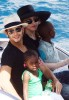 pictures of Jesus Luz with Madonna and her children Mercy and David as they had a lovely cruise on a boat in Portofino Italy on Monday August 17th 2009 15