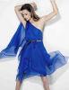Alessandra Ambrosio appears in Brazil LOfficiel magazine issue of July 2009 wearing a navy blue dress