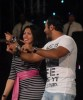 Picture of Mirhan Hussein from Egypt on stage singing with Tamer Husni 6