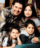 picture of Ragheb Alama with his wife and sons