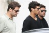 Jesus Luz with Ibrahim Peterson and Mario Bulhoes leaving the restaurant after lunch in Rio on August 22nd 2009 3