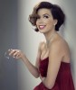 Eva Longoria Desktop wallpaper in a dark red dress with the new hair short cut