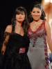 Ayten Amer with actress Minna Fadly