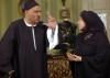 Jamal Sleiman as Hamam bin Raslan in the darama series Afrah Iblis in Ramadan with actress abla kamel