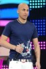 Mohamad Qwaider photo during star academy season 5 on stage with his new look of shaved hair
