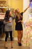 Kim kardashian picture as she is baby shopping with Kourtney for her new pregnancy on August 27th 2009 1