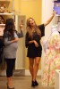 Kim kardashian picture as she is baby shopping with Kourtney for her new pregnancy on August 27th 2009 2