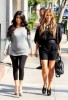 Kim kardashian picture as she is baby shopping with Kourtney for her new pregnancy on August 27th 2009 3