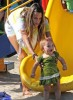 Alessandra Ambrosio plays in the park with her daughter Anja Louise Ambrosio Mazur in Malibu Los Angeles on August 30th 2009 2