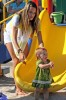 Alessandra Ambrosio plays in the park with her daughter Anja Louise Ambrosio Mazur in Malibu Los Angeles on August 30th 2009 3