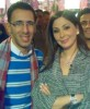 Elissa picture taken during a TV interview where she took the time to have some fans take photos with her in August 2009 1