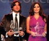 Elissa photo with Lebanese singer Wael Kfoury during an award event