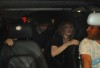 Madonna picture with Jesus Luz inside the car leaving after having dinner with israeli politician Tzipi Livni at Stefan Brown restaurant in Tel Aviv on August 31st 2009 2
