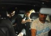 Madonna picture with Jesus Luz inside the car leaving after having dinner with israeli politician Tzipi Livni at Stefan Brown restaurant in Tel Aviv on August 31st 2009 3
