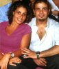 Amr Diab photo with his wife zaina sitting together