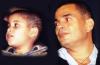 Amr Diab photo with his son having the same hair cut