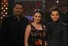 Nishan Deirharoutinian with Ragheb Alama and Solaf Fawakherji
