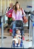 Alessandra Ambrosio spotted with Ajna at LAX airport on September 7th 2009 2