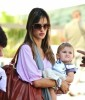 Alessandra Ambrosio spotted with Ajna at LAX airport on September 7th 2009 6